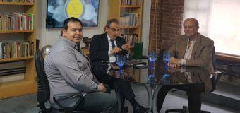 Guillermo Moreno en la «La economia por Moreno» junto a Pablo Challu y David Arrighi